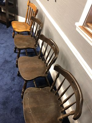 4 wood chairs for Sale in Charleston, WV