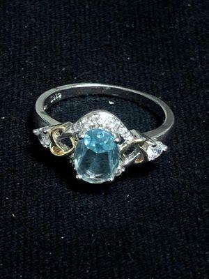 Sterling Silver Ring / Light Blue CZ for Sale in Las Vegas, NV