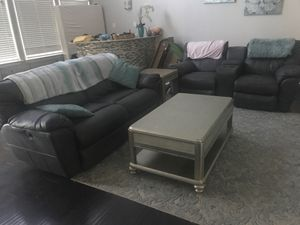 Living room set Reclining Sofa, Reclining Love Seat, Coffee Table, End Table for Sale in Arlington, TX