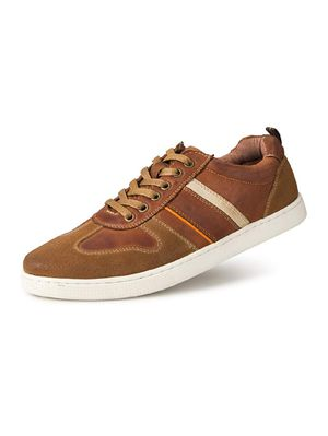 Men's Genuine Leather Fashion Sneakers Casual Clean Shoes for Sale in Oshkosh, WI