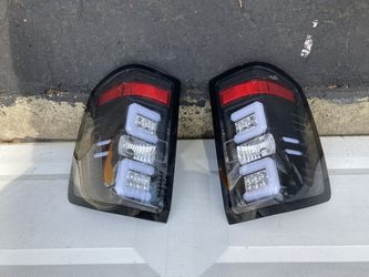 Bermuda Black Fiber Optic and LED Rear Tail Lamp Light - Pair Chevy Silverado 2014 or 2017 for Sale in Middletown,  NJ