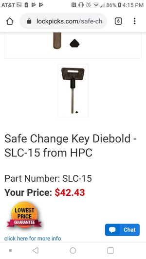 Safe change keyHPC SLC#15 for Sale in Tacoma, WA