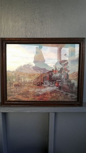 Train picture of the old west by Rozzi. 19inx23in. for Sale in Fontana, CA