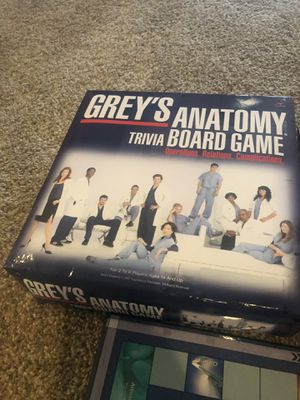 Grey Anatomy Board Game for Sale in San Mateo, CA