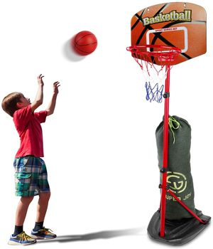 Basketball Hoop for Kids Adjustable Height 2.85-6.23 ft, Portable Mini Kids Basketball Stand Indoor and Outdoor, Sport Games for Boys and Girls Age 3 for Sale in San Gabriel, CA