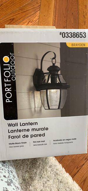 Portfolio outdoor wall lantern for Sale in Centreville, VA