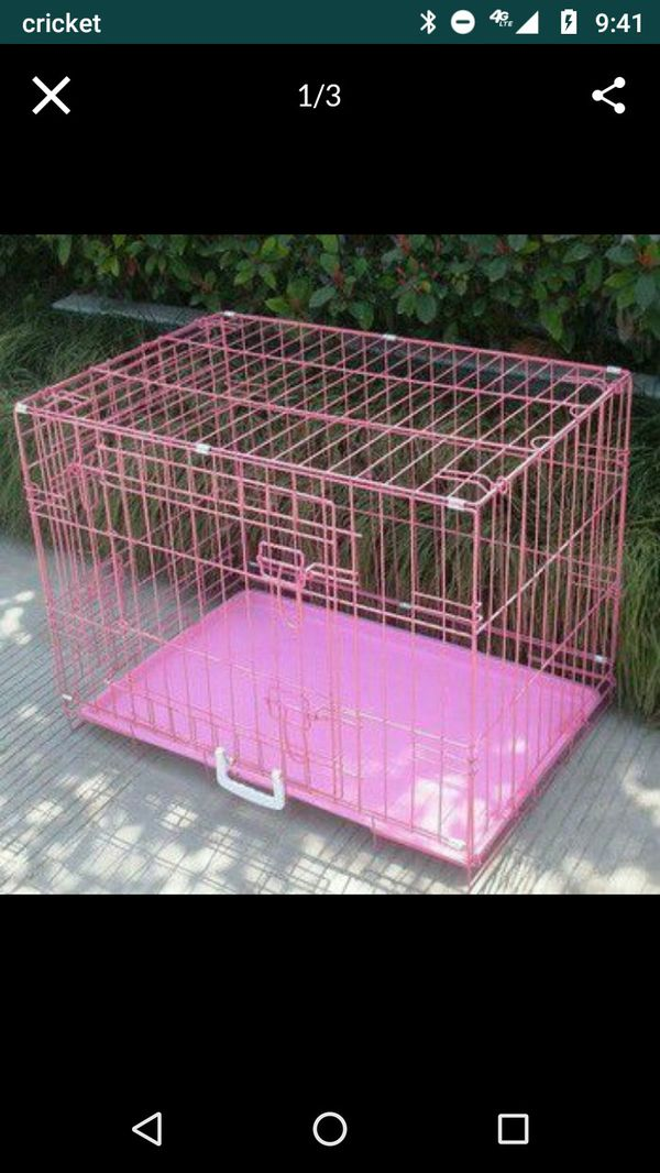 36'' Metal Dog Crate Kennel Carrier