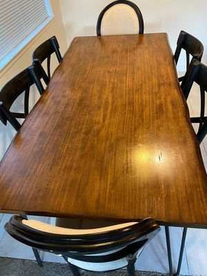 Wooden Dining tables + 6 dining chairs for Sale in Redwood City, CA