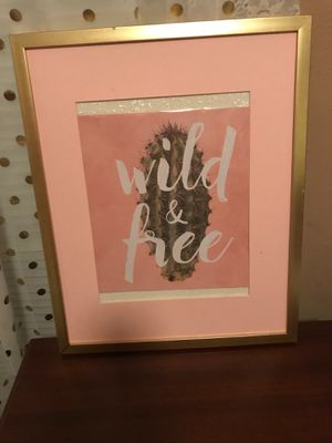 Cactus frame artwork ( need gone ASAP ) for Sale in Lewisville, TX
