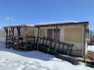 Tamarack mobile home 2 br 1 ba new furnace new appliances new water heater must sell $15,000.00 obo consider partial trade for motor home health forc for Sale in Missoula, MT
