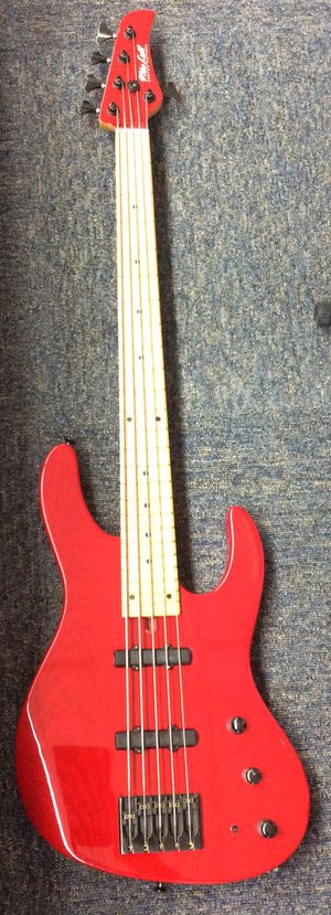 Mike Lull M5V 5-String Bass Guitar Red (17-1294) for Sale in Laurel, MD