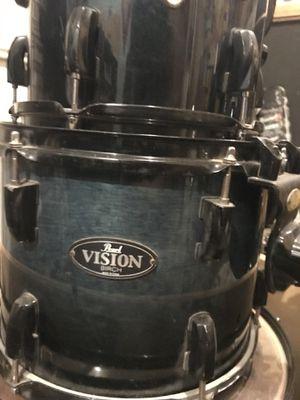 Pearl vision birch drum set for Sale in Miami, FL