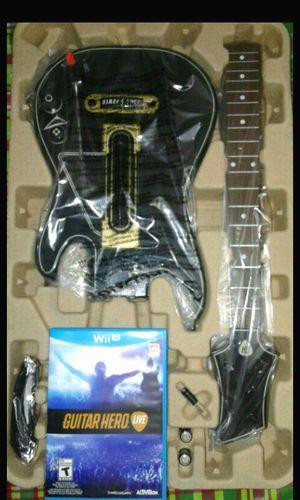 Nintendo Wii U Guitar hero set new for Sale in Winter Haven, FL