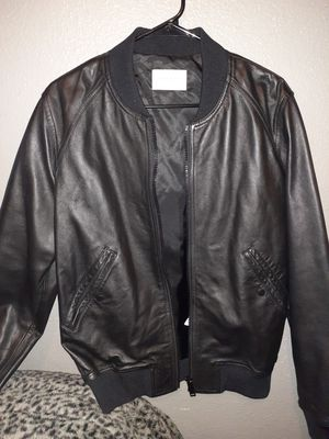 New sandro paris leather jacket size medium for Sale in Los Angeles, CA