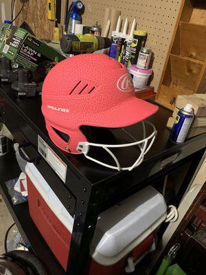 Pink baseball helmet and Baseball glove for Sale in Lancaster, TX