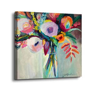 Canvas Wall Art Painting Contemporary Floral Flowers for Sale in Marquette, MI