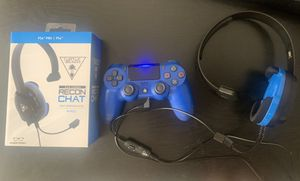 PS4 Bundle (Controller + Turtle Beach Headset Included) for Sale in Long Beach, CA