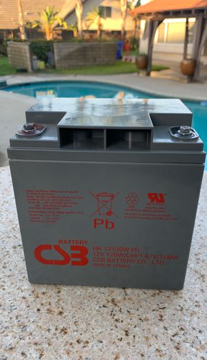 CSB 12 V Battery in new condition. Great for Solar power applications for Sale in Claremont, CA