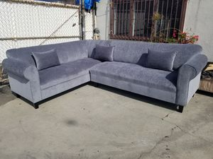 NEW 7X9FT BARCELONA SLATE FABRIC SECTIONAL COUCHES for Sale in La Mesa, CA