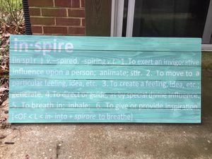 INSPIRE- wooden picture for Sale in Silver Spring, MD