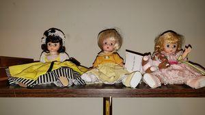 Set of 3 Madame Alexander Dolls for Sale in Overland Park, KS