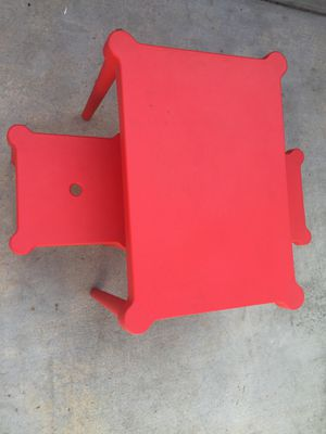 Kids plastic table and 2 chairs for Sale in Long Beach, CA
