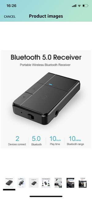 Bluetooth Receiver, Bluetooth Hands-Free Car Kits, Protable Wireless 3.5mm AUX Audio Adapter - Bluetooth 5.0, A2DP, Built-in Microphone - for Car/Hom for Sale in Bassett, CA