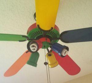 Hampton Bay kids boys childrens colored ceiling fan for Sale in Dania Beach, FL