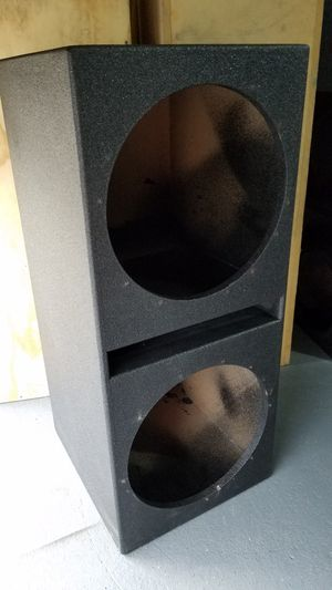 Pro box speaker box fits 2 15s subs bocinas / $65 for Sale in Houston, TX