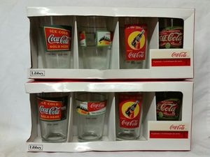 8 collectible Coca-Cola drinking glasses tumblers by Libbey for Sale in Stewartsville, NJ