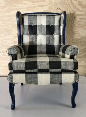 Buffalo Check Wingback Chair for Sale in University Place, WA