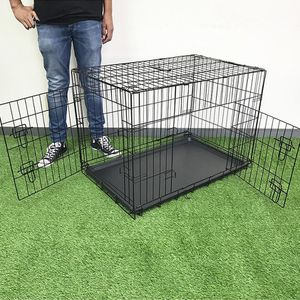 """New in box $45 Folding 36"""" Dog Cage 2-Door Pet Crate Kennel w/ Tray 36""""x23""""x25"""" for Sale in El Monte, CA"""