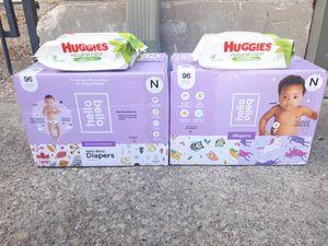 Size Talla NEWBORN Diapers Pañales Hello Bello BOXES With Wipes Cajas Only $20 Per Box + 1 Wipe $20 La Caja Con 1 Paquete de Toallitas for Sale in Dallas, TX