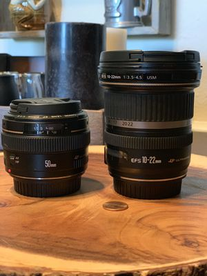 50mm 1.4 EF lens 10-22mm 3.5-4.5 EFS lens Canon for Sale in San Diego, CA