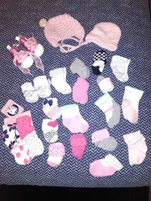 Baby socks, mittens, beanies, shoes for Sale in Fontana, CA