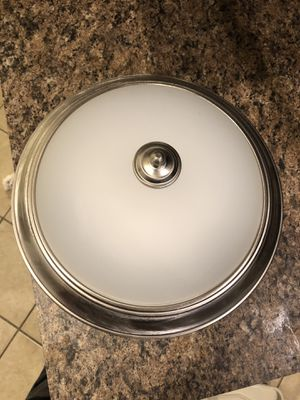 11 inch light fixture with brushed nickel trim for Sale in Dundee, FL