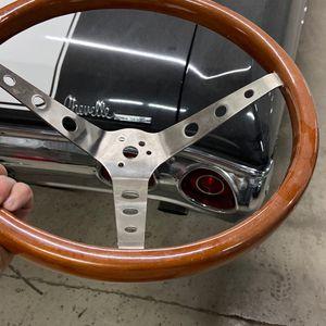 Wood Grain Muscle Car Steering Wheel for Sale in Brentwood, CA