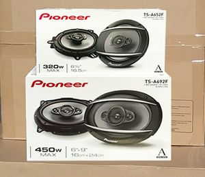 Pioneer 6x9 and 6.5 car audio speaker package on sale today for only 99 for Sale in Los Angeles, CA