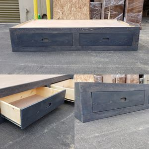 New Twin Size Platform Bed w/ 2 Storage Drawers comes in any of our colors! for Sale in Lynwood, CA
