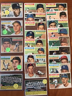 * (43) 1956 TOPPS BASEBALL CARDS * EXCELLENT CONDITION! for Sale in Lafayette, CA