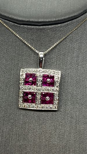 Ruby and diamond necklace for Sale in Sacramento, CA