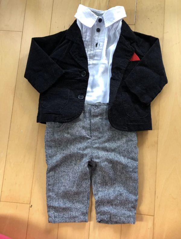 Baby boy tuxedo set