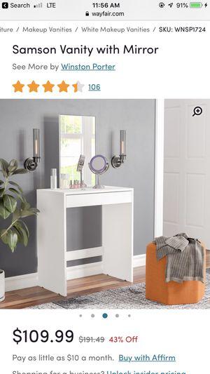 Makeup vanity / Samson Vanity with mirror for Sale in Oakland, CA