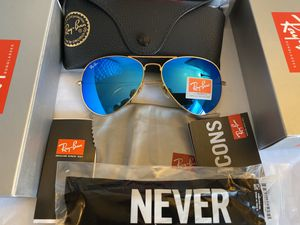 Ray Ban Aviator Sunglasses / Flash Blue for Sale in Brooklyn, NY