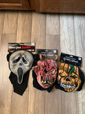 Set of three (3) halloween face masks NEW for Sale in Alpine, CA