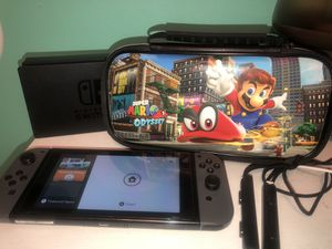 Nintendo Switch Console Version 1 + Carrying Case + Screen Protector for Sale in Vista, CA