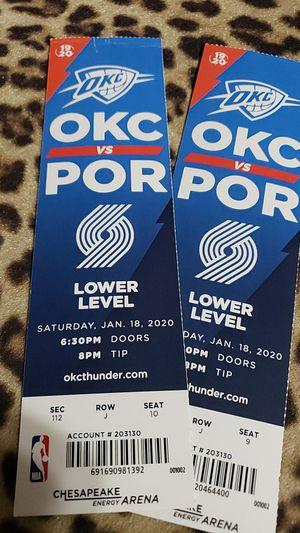 Thunder vs Portland for Sale in Oklahoma City, OK