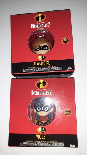 The Incredibles 2 5-Star Action Figure Violet and Elastigirl. for Sale in Miami, FL