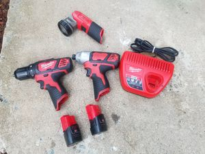 120 firm price Milwaukee 12v combo drill and impact driver and light for Sale in Alexandria, VA