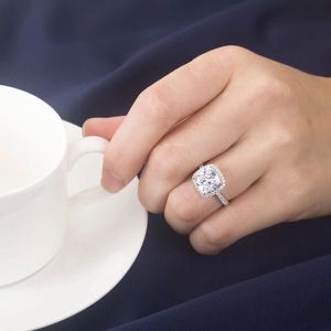 Stamped 925 Sterling Silver Engagement Ring - Emerald Cut Diamond - each $47 for Sale in Sacramento, CA